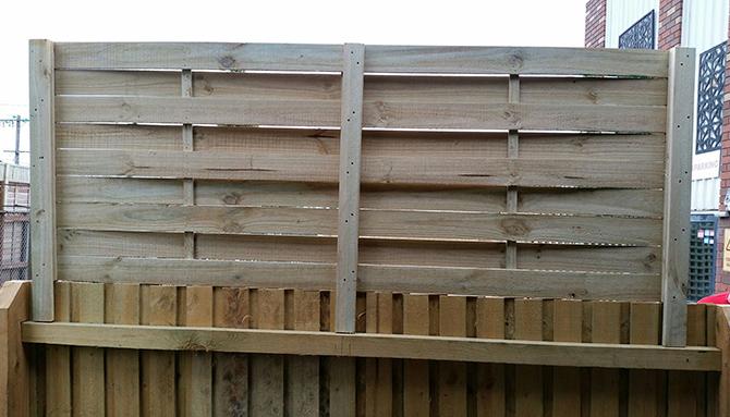 Woven Lattice Fence Extension: 2400 X 600 Heavy-Duty Woven