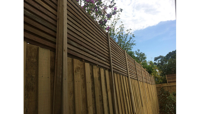 2400 X 700 Hardwood Corral Fence Extension Lattice Factory